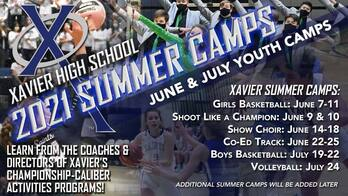 Xavier 2021 Summer Camps
