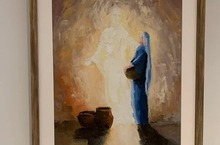 Moms' Group donates beautiful artwork for the Annunciation Room