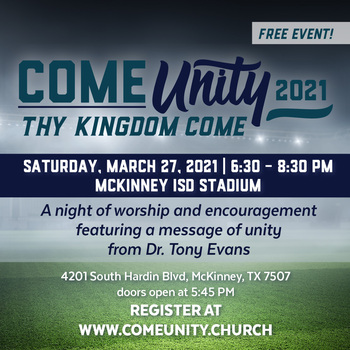 Come Unity 2021; Thy Kingdom Come