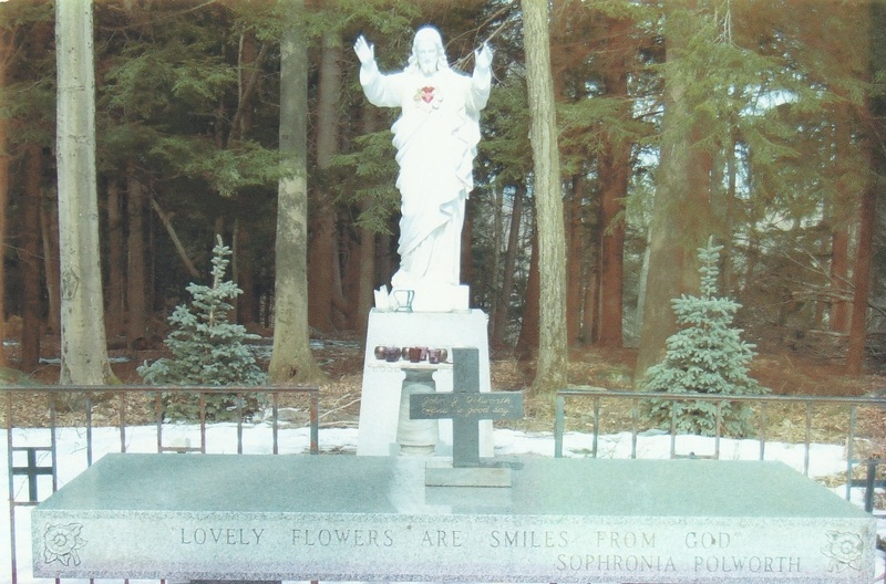 Sacred Heart Statue and Granite Altar