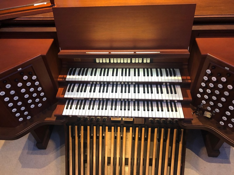 Organ console by Wicks Organ 1996