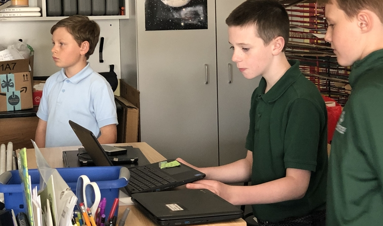 Chromebooks used for student presentations