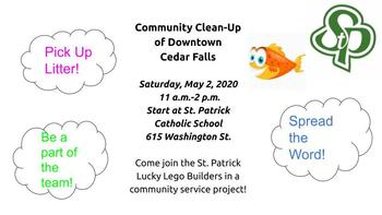 May 2, 2020 community clean up flyer