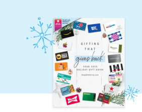 Do all your holiday shopping in one impactful place by using Scrip