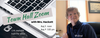 Town Hall Zoom with Mrs. Hackett