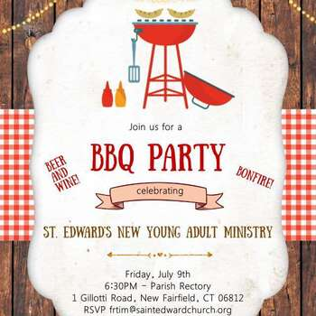 St. Ed Young Adult BBQ