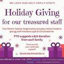 Holiday Giving for staff