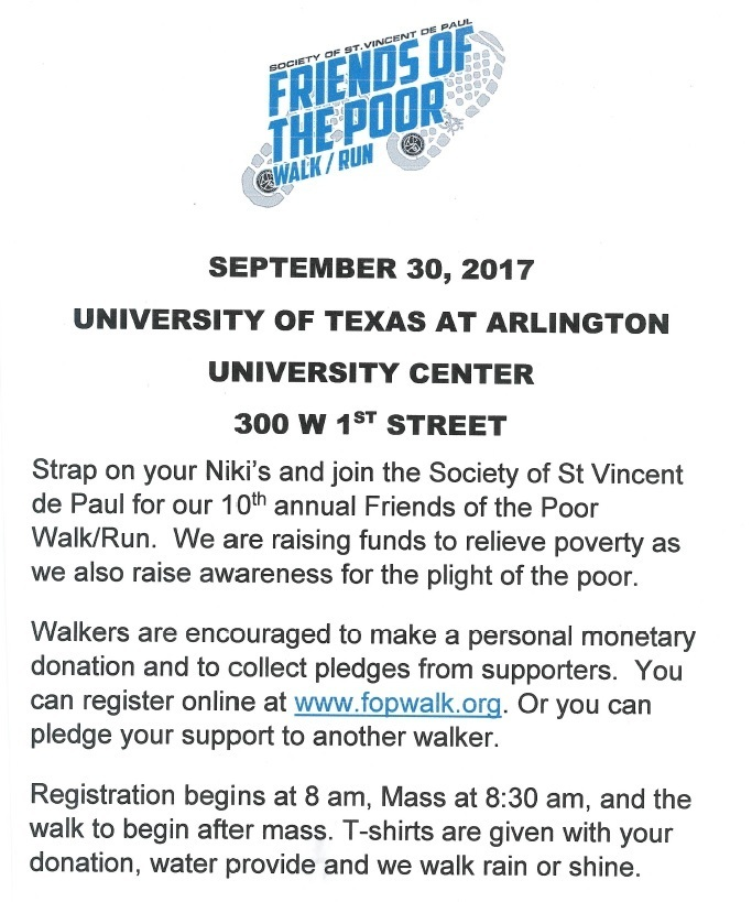 Friends of the Poor 2017 Walk
