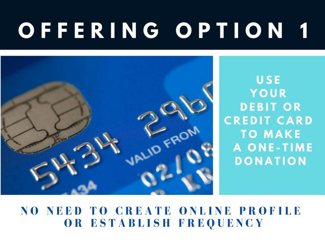 donate with your credit card