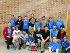 The 2019-20 Regis Royal Robots FTC Team following a competition.