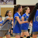 Falcons Blue Volleyball Wins Five-Set Thriller