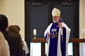 Bishop Sheltz Celebrates First Mass