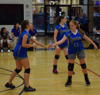 Frassati Falcons Blue Volleyball Improves to 5-0