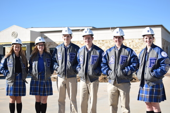 Students receive first varsity letter jackets