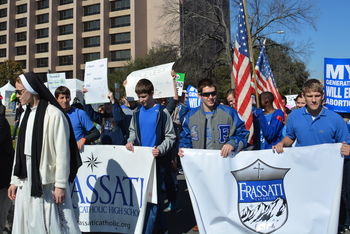 Group of students participates at Rally for Life in Austin