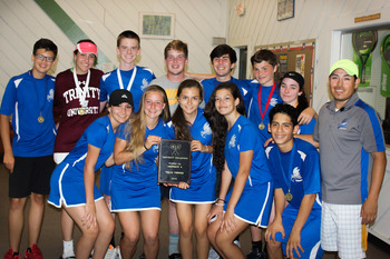 Tennis team wins school's first District Championship