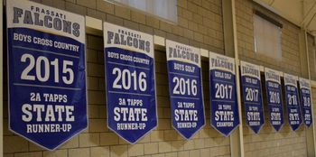 Athletic Banners Hung in Gym