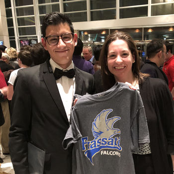 Luis Esparza '20 performs at TPSMEA All-State Clinic and Concert