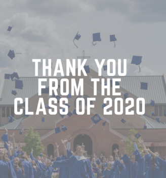 Gratitude from the Class of 2020