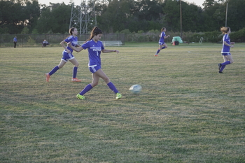 Girls Soccer Team Plays Exciting Game vs Second Baptist