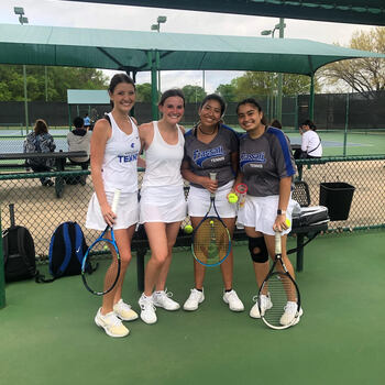 Frassati Tennis Team Competes at the TAPPS State Tennis Championship