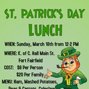 ST. PATRICK'S DAY LUNCH - CANCELLED