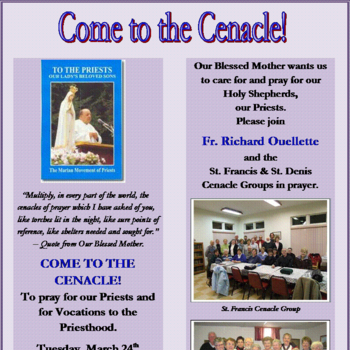 COME TO THE CENACLE!