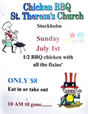 Annual Chicken Barbecue ~ St. Theresa's, Stockholm
