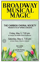 CARIBOU CHORAL SOCIETY SPRING CONCERT ~ Holy Rosary Church, Caribou