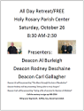 ALL DAY RETREAT ~ OCT. 26