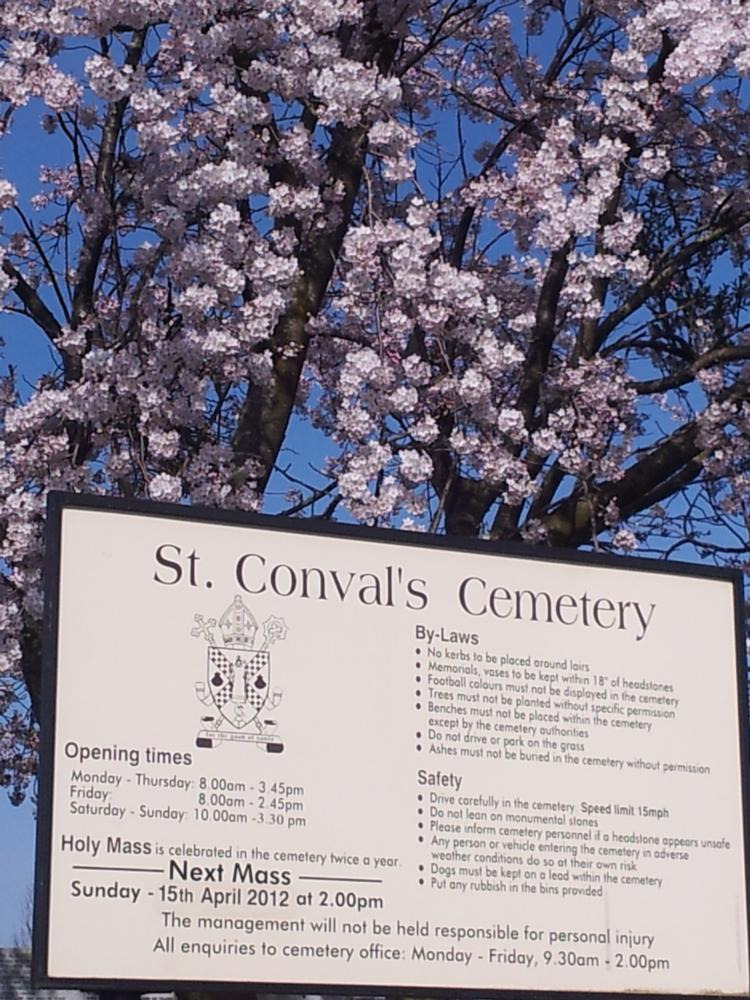 Opening times & cemetery map here...