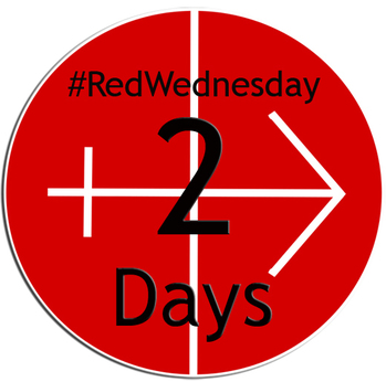 #REDWEDNESDAY - LIGHTING UP ST MIRIN'S CATHEDRAL - 2 DAYS TO GO...