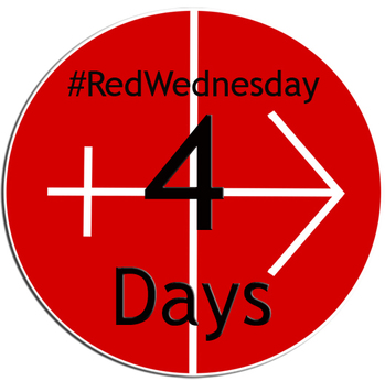 #REDWEDNESDAY - LIGHTING UP ST MIRIN'S CATHEDRAL - 4 DAYS TO GO...