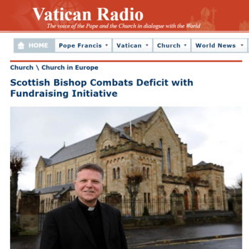 Vatican Radio-Scottish Bishop Combats Deficit with Fundraising Initiative