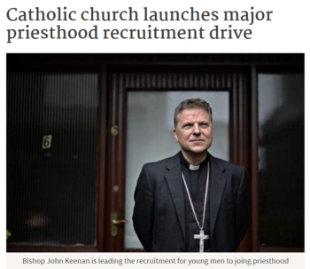 Catholic church launches major priesthood recruitment drive