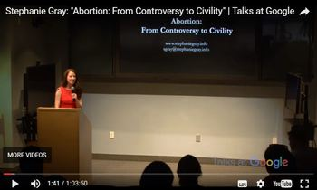 This pro-life talk at Google's headquarters was a hit