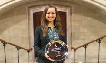 Ousted student president wins pro-life award