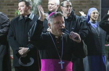 "Bishop John Keenan, the Bishop of Paisley, has spoken out against ""no platforming"""