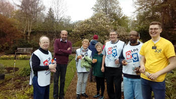 INTERFAITH EVENT IN THE PEACE GARDEN AT BARSHAW PARK