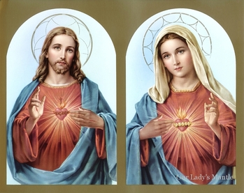 Sacred Heart of Jesus and the Immaculate Heart of Mary