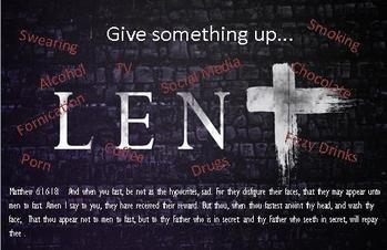 Lent - give up or take up?