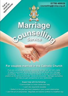 Diocesan Counselling for Catholics Married in the Catholic Church
