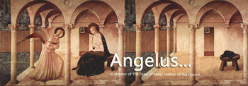 The Angelus daily prayer reminder…