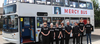 Friends of Divine Mercy Scotland with the Mercy Bus