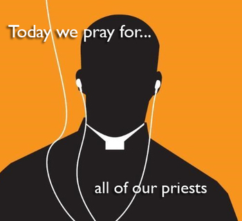 Calendar for Lent - pray for all our priests
