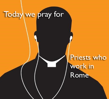 Calendar for Lent - priests who work in Rome