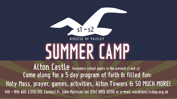 Diocese of Paisley Summer Camp