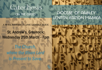 Cancelled Diocesan Lenten Station Mass at St Andrew's, Greenock