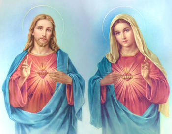 PRAYER OF DEVOTION TO THE UNITED HEARTS OF JESUS AND MARY