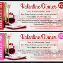 Valentines Mass and Dinner